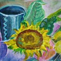 sonnenblumezitronen 202x202 Malerei
