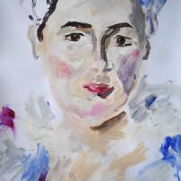 Dame in Spitze 202x202 Malerei
